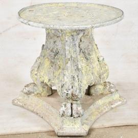 Sellette en fonte style empire laqué blanc