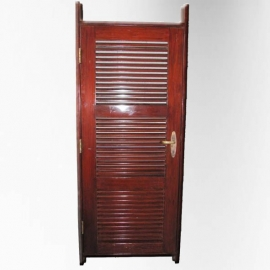Pinewood ship door mahogany stained