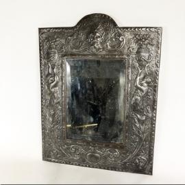 Miroir rectangulaire en fer repoussé Napoléon III