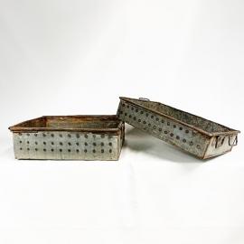 Bac rectangulaire en zinc et fer (grand modèle)