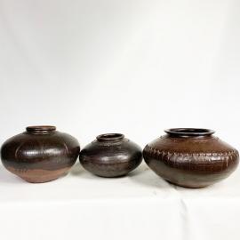 Jarre en grès vernissé Chine XVIII et XIXème S.