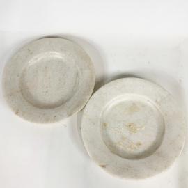Assiette en marbre crème (lot de 8)