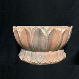 Bases en marbre rose sculpté (Paire de)