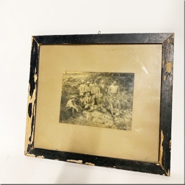 Old framed photo (hunting scene)
