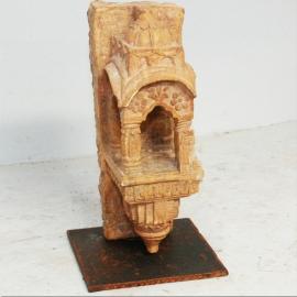 Lampe de palace en marbre de Jaisalmer, Inde début XIXème S.