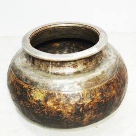 Chaudron en laiton et cuivre début XIXème S.
