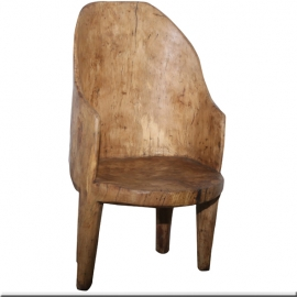Fauteuil Naga monobloc en bois