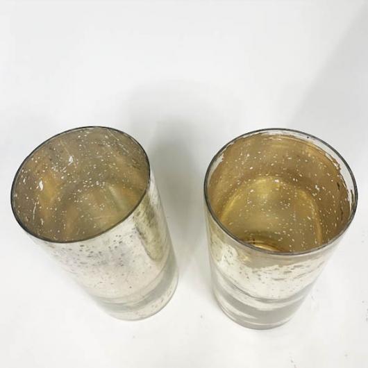 Vases en verre eglomisé (Paire de)