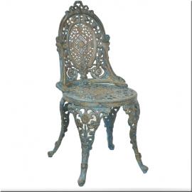 Chaises en fonte bleuté (Paire de)