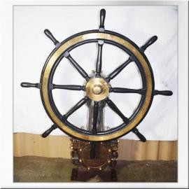 Barre à roue avec mécanisme en laiton aluminium et fer
