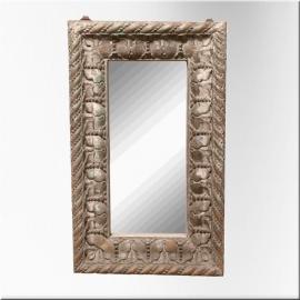 Miroir rectangulaire en bois laqué blanc vert