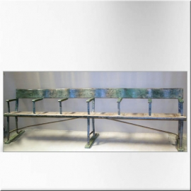 6 seaters iron and wood bench