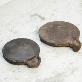 Dessous de plat rond en marbre XVIIIème S.