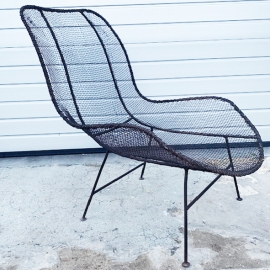 Iron armchair around 1950