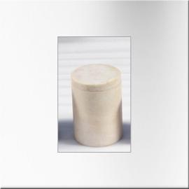 Boite cylindrique en marbre blanc (modèle moyen)