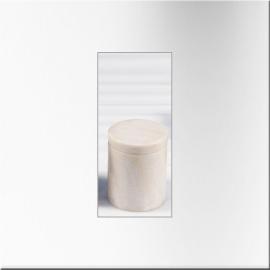 Boite cylindrique n marbre blanc à couvercle (Petit modèle)