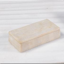 Boite rectangulaire en marbre blanc