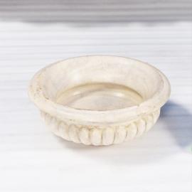 Vasque ronde en marbre blanc