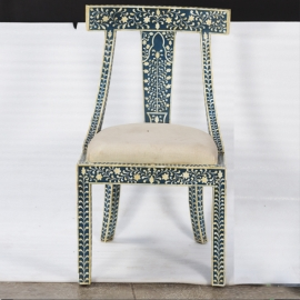 Lacquered wood and camel bone chair