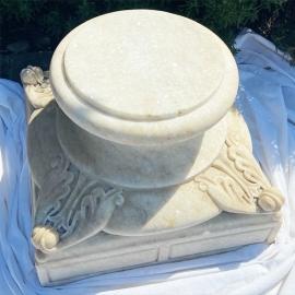 Bases en marbre blanc (Paire de)