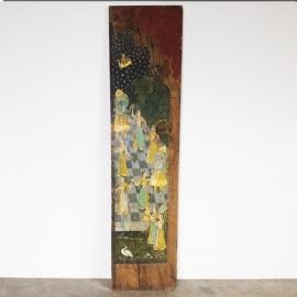 Panneau de porte à décor de scènes Mogol