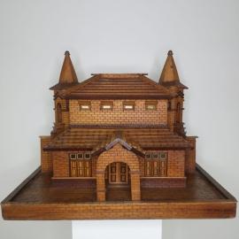 Maquette en bois d'une maison d'architecte