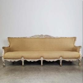 Canapé 'Régence' en bois laqué blanc