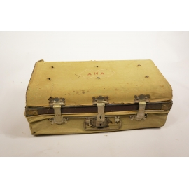 Iron suitcase with tissu cover