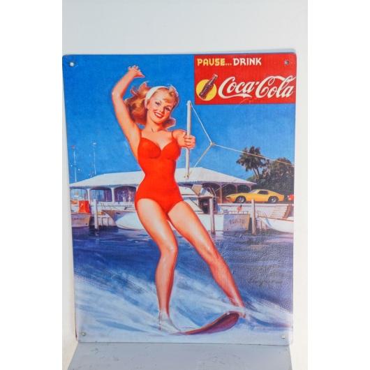 Coca-cola vintage enamel plate