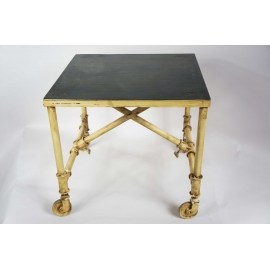 Square iron down table